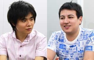 (左)レインメーカー株式会社  取締役 竹沢様 (右)レインメーカー株式会社   デザイナー/フロントエンドエンジニア 長谷川様